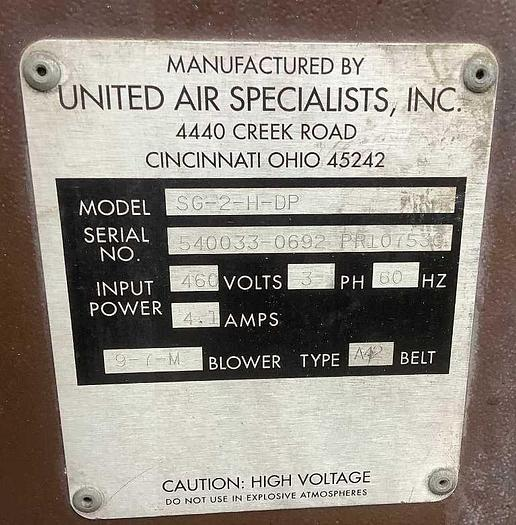 United Air Specialists  SG-2-H-DP