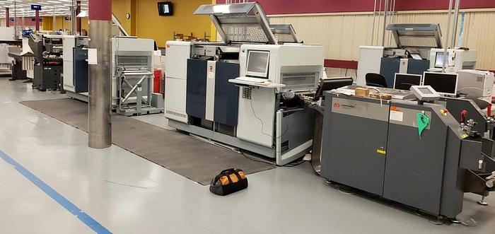 Used Oce Variostream 8750 TWIN Printing System (Pinless - 208M Foot Count) - Tecnau Roll to Fold (LX550 Unwinder / F4 Folder)