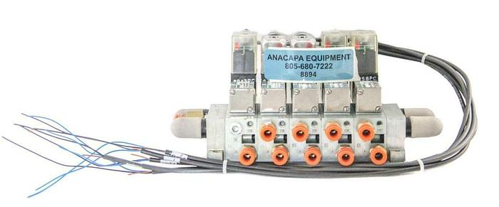 Used Numatics 031SA4154000061 Solenoid Valve W/ Canfield Connector & Manifold (8894)W
