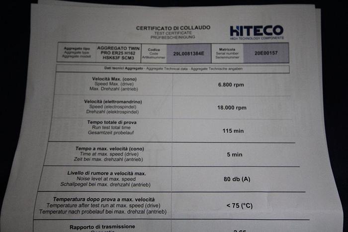 Hiteco  scm group Twin pro