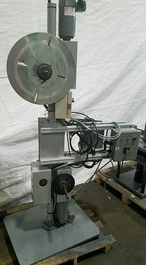 Used Double Motorized Stock Material Reel Payoff with Paper Interleaf