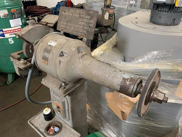 "QUEEN CITY HIGH SPEED BUFFER GRINDER 1 HP, 8"" WHEEL   Our stock number: 5590"