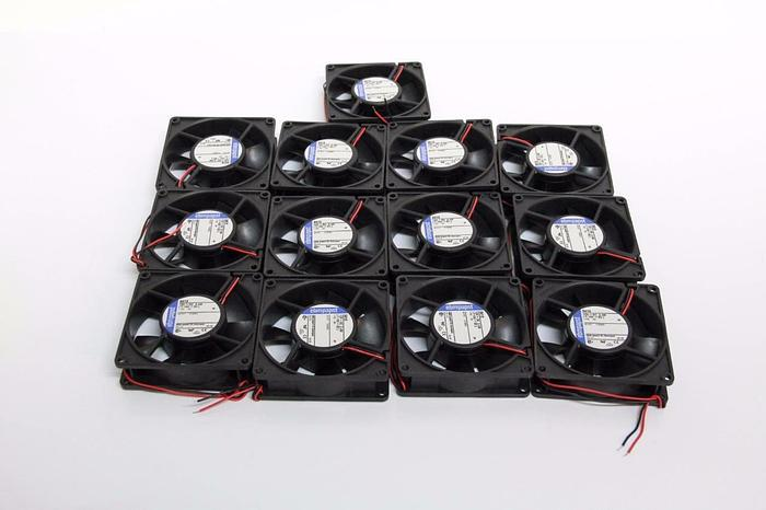 Used Ebm-papst Fan 3412 12V - DC 2.4W (7-15V - DC) Motorized Fans Lot of 13 NEW (5368