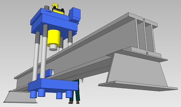 400 Ton Rutil Hydraulic Straightening Press