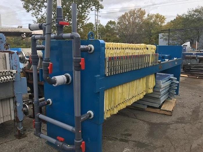 Used 22 CU. FT. DURIRON FILTER PRESS (RECONDITIONED) #9402