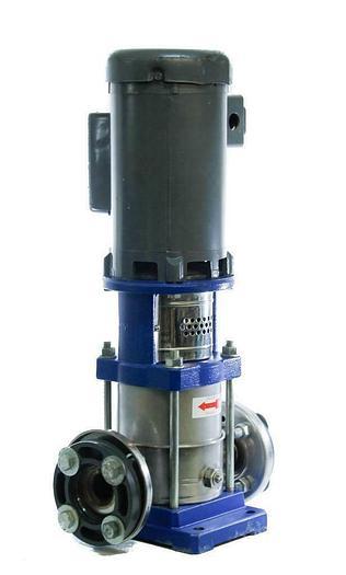 Used Goulds 2SVB1D1B0 SSV Multi-Stage Vertical Booster Pump w/ Baldor VL1306 (7441) G