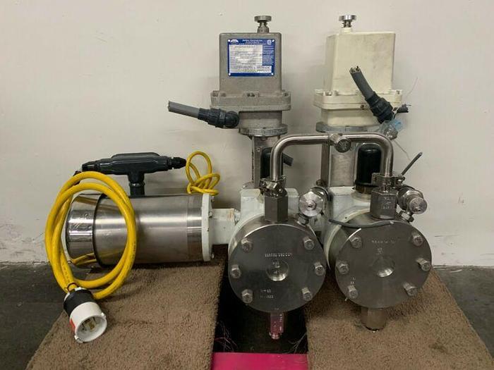 Used Jordan Controls SM-1010-A-2-0-0-0 Actuator w/ LEWA EK2 Pump & Motor C2B4BT