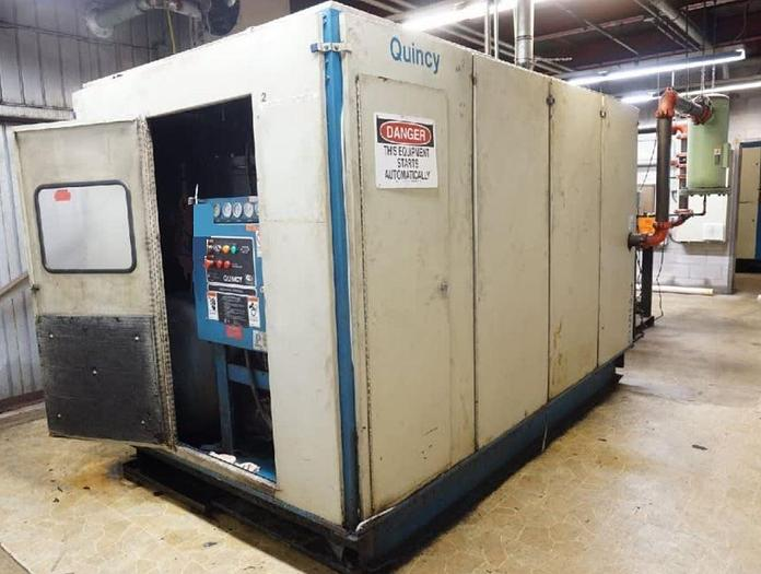 Used QUINCY 300 HP Rotary Screw Air Compressor