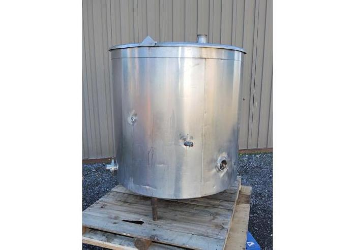 USED 125 GALLON TANK, STAINLESS STEEL, INSULATED