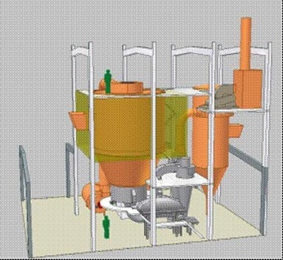 Used Anhydro 3-stages spray dryer parts