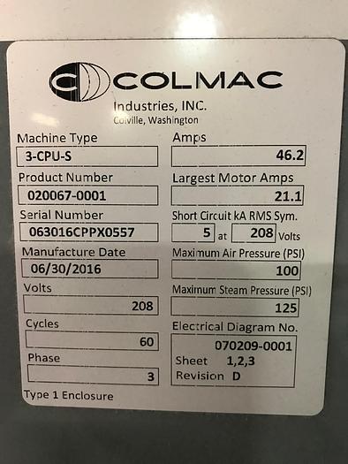 2016 COLMAC ROTARY TRIPLE BUCK