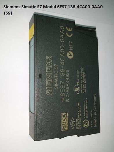 Gebraucht 4 Stück Simatic S7 Modul, 6ES7 138-4CA00-0AA0, Siemens