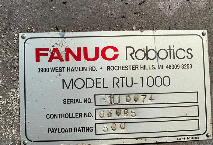 Used FANUC RTU-1000 7TH AXIS ROBOT TRACK 500KG X 13' TRAVEL
