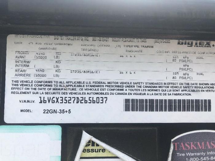 2013 BIG TEX 22GN-35+5
