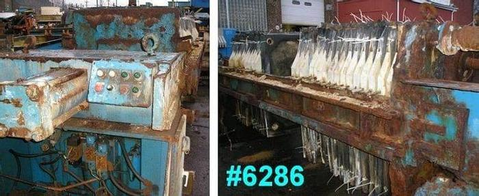 Used 24 CU. FT. PERRIN FILTER PRESS – POLYPRO. – 1000 MM