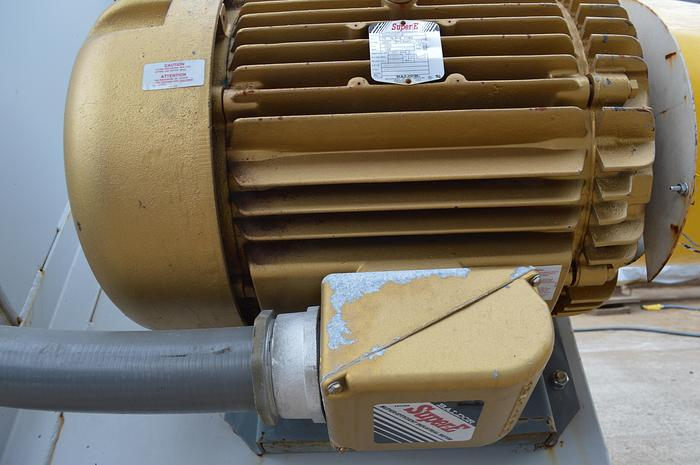 Used Baldor Super E 75HP electric motor, 200 volt,