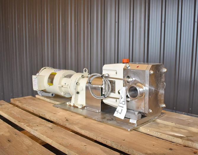 Used USED VIKING ROTARY LOBE PUMP, MODEL S2L, STAINLESS STEEL, JACKETED