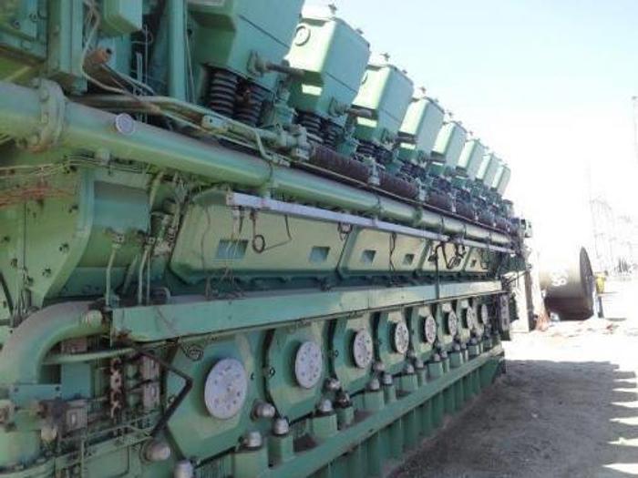 72 MW 1996 Used Alsthom 16ZA40S Diesel Generator