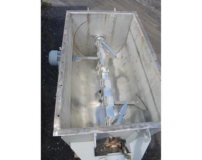 USED PADDLE BLENDER, 60 CUBIC FEET, STAINLESS STEEL, JACKETED