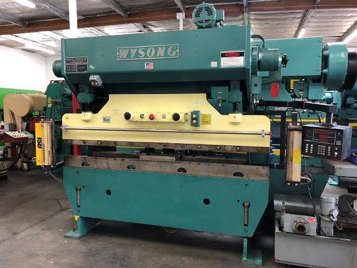 Used 60 Ton, WYSONG H-6096, 8' x 12 Ga. , HYDRA-MECHANICAL, CNC BACKGUAGE [4989]