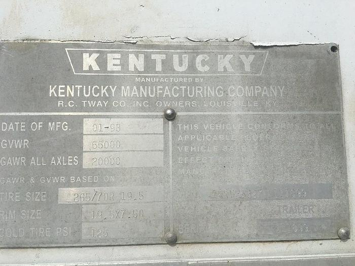 1998 KENTUCKY MOVER BOX