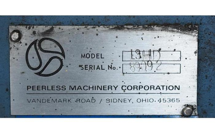 USED PEERLESS HD13 ROLLER BAR DOUGH MIXER, 1300 LBS CAPACITY, STAINLESS STEEL, JACKETED