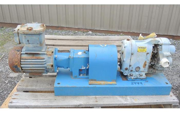 Used USED WAUKESHA ROTARY LOBE PUMP, MODEL 25, STAINLESS STEEL