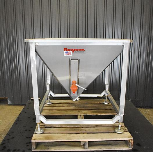 Used USED FLEXICON STAINLESS STEEL HOPPER / DUMP STATION
