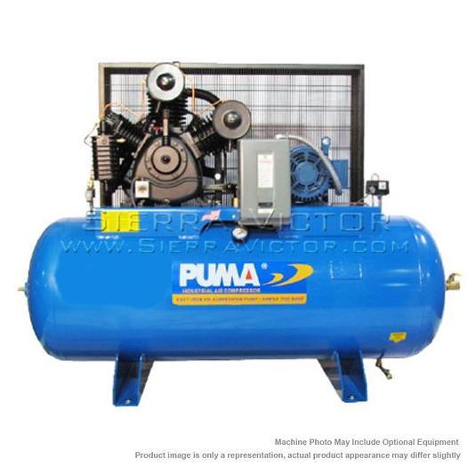 PUMA 10 HP Industrial Horizontal Air Compressor TUK-100120M1