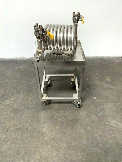 Used Exergy Incorporated 00644-3 Stainless Steel Heat Exchanger on Rolling Cart