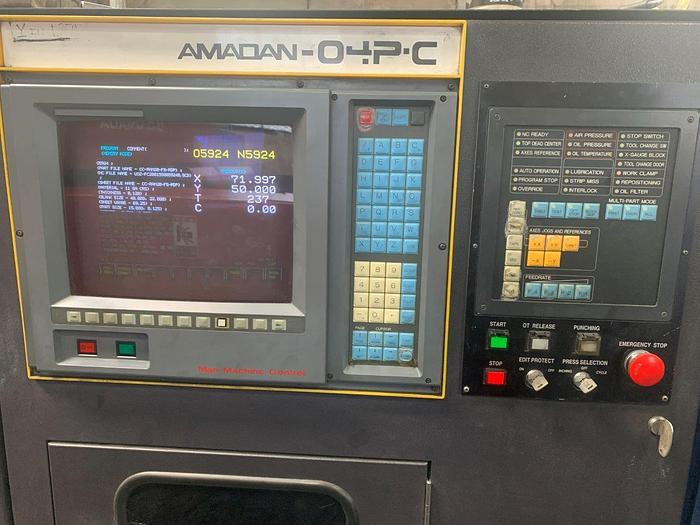 1991 33 Ton Amada Pega 357 CNC Turret Punch