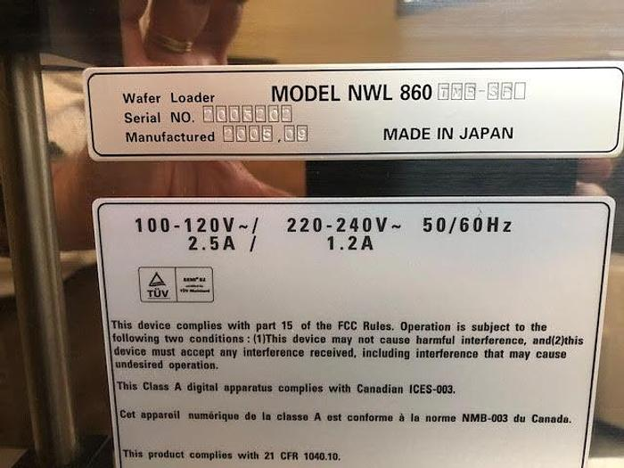 Used Nikon NWL860-TMB-SP wafer loader