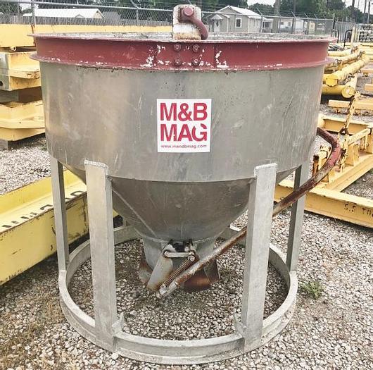 Used Aluminum 1.5 Yard Concrete Pouring Bucket