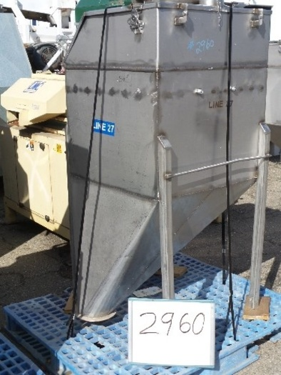 Stainless Steel Ingredient Feed Hopper Tank #2960