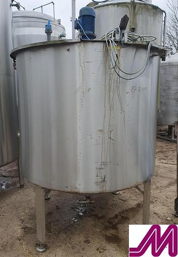 Used 2,000 Litre Stainless Steel Mix Tank