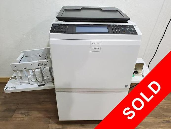 Used Ricoh DD 6650p Digital Duplicator with Network Print and Stand. Only 607K Meter!