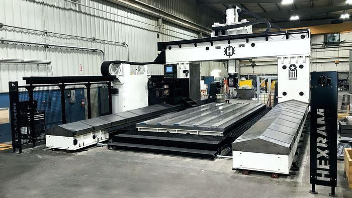 "2020 Hexram Heavy Duty Gantry Machining Center, Table 96"" X 240"", 60"" H/UR, 15,000 rpm, 30 hp, Fanuc CNC Control"