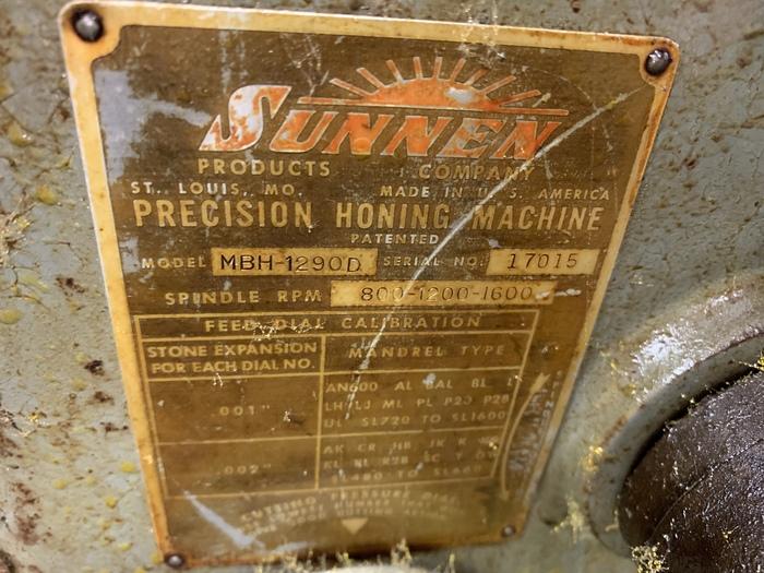 SUNNEN MODEL MBH-1290D HORIZONTAL HONE