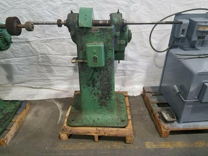Used Polishing Buffing Jack Lathe Double Spindle 550V 5HP Polish Large Parts