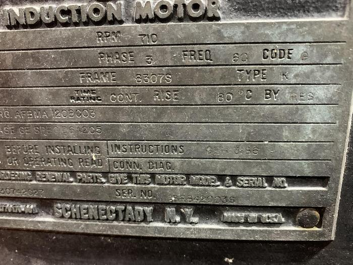 Used GENERAL ELECTRIC MOTOR 400 HP