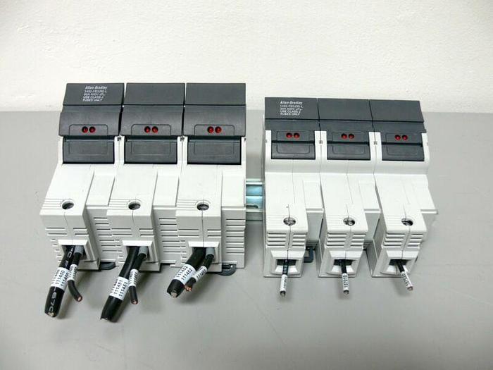 Used Lot of 2 Allen Bradley Circuit Breaker 1492-FB3J60-L & 1492-FBJ30-L on DIN Rail