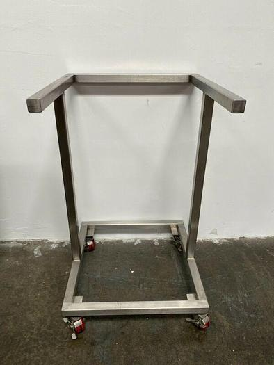"""Used Stainless Steel 24"""" x 24"""" x 39"""" Cart w/ Casters"""