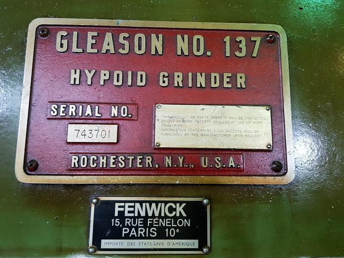 1983 Gear Grinding Machine Gleason 137