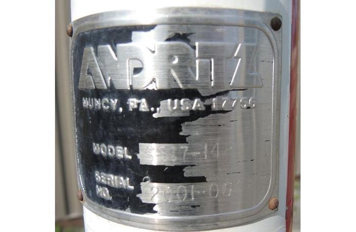 "USED ANDRITZ SCREEN, 17"" DIAMETER, STAINLESS STEEL, PEDESTAL MOUNTED VIBRATORY SCREENER"