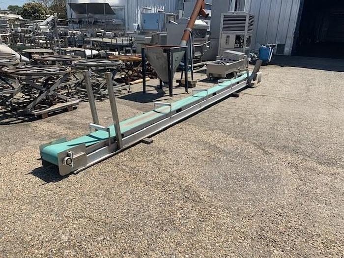 """Used 22.5 ' Long x 12"""" Wide Flat Belt Conveyor"""
