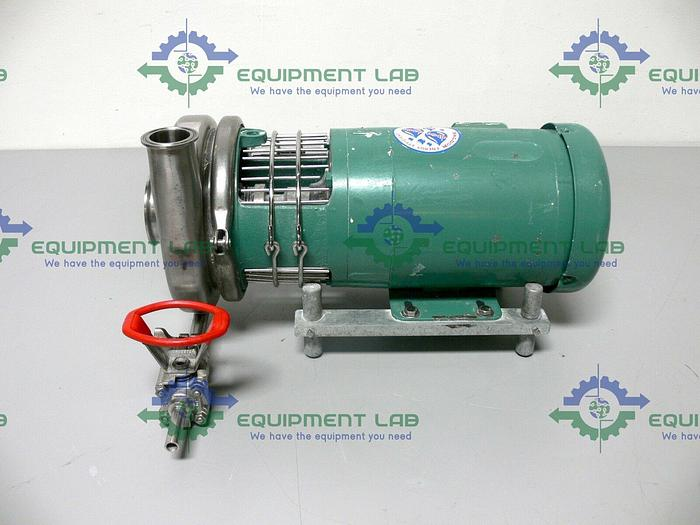 Used Tri-Clover TRI-FLO Pump C216MD56T-S w/ 1.5HP Baldor Industrial 3 Phase Motor