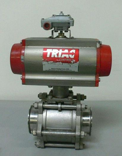 """Used Triad Controls 2R300SR 150 PSI Actuator + 4"""" CF8M 1000 WOG Valve & APL-210N"""