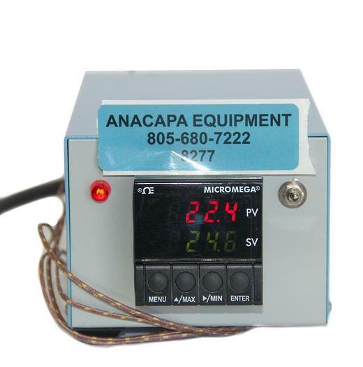 Used Omega Engineering CN77343 Micromega Temperature Controller With Custom Box 8277