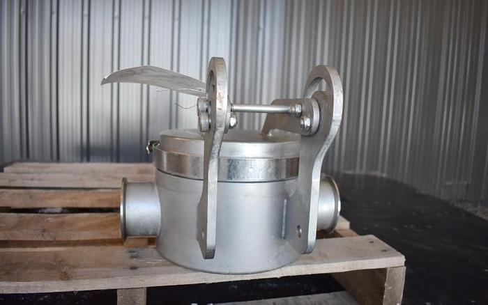 """USED 3"""" BUNTING MAGNETICS MAGNETIC LIQUID TRAP, STAINLESS STEEL"""