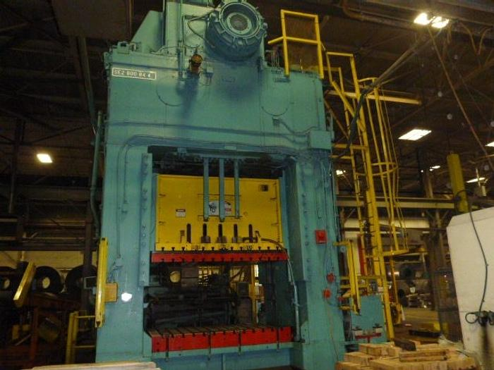 "800 ton Bliss 84""x48"" Used Stamping Press"